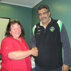 Zela with Warren Collins Cherbourg CEO