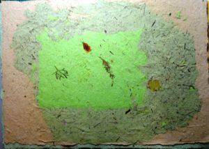 Galangal, lemongrass & bullrush paper w marigold petals