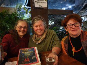 Plant legend Sheeley, Gage, artist and activist Zela Bissett and Joolie Gibbs, Gallery Director, artist